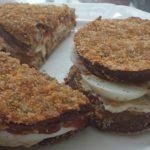 eggplant egg sandwich