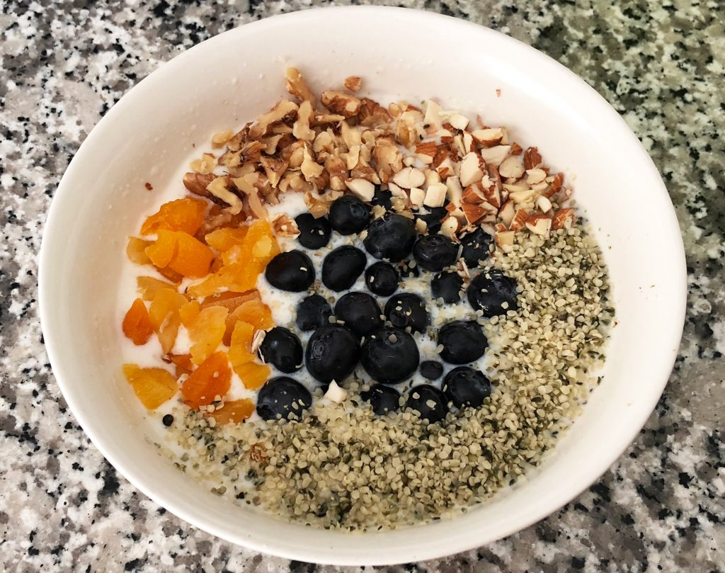talbina cereal with fruit and nuts