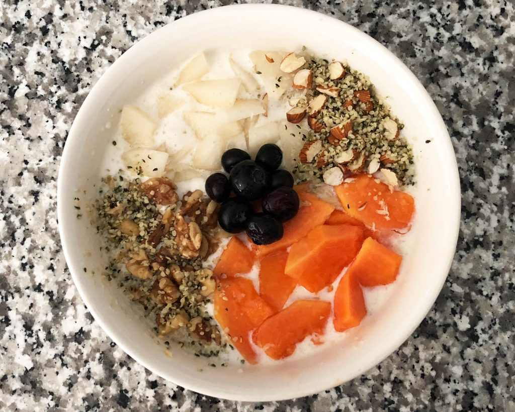 talbina cereal with fruits