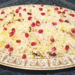 Persian style saffron rice