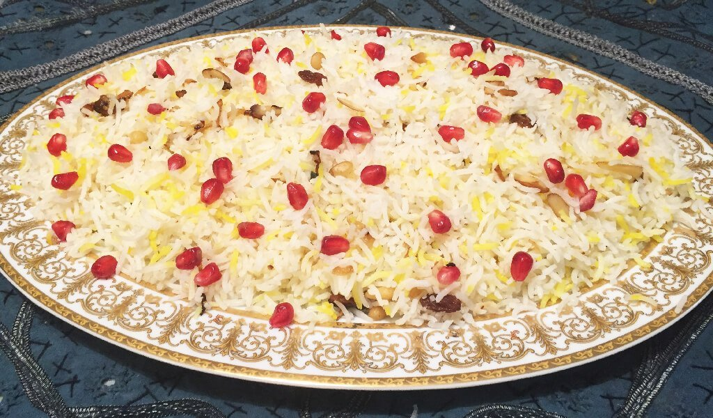 Persian rice with pomegranate