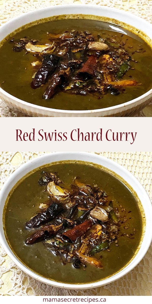 red swiss chard curry